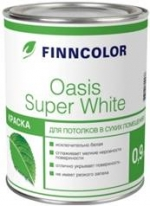 Краска для потолков Tikkurila Finncolor Oasis SUPER WHITE 9 л матовая