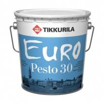 Эмаль для внутренних работ полуматовая бесцветный Tikkurila Finncolor Euro Pesto 30 9л (база С)