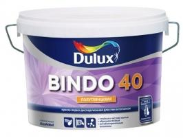 Краска для стен и потолков, полуглянцевая Dulux Bindo 40 10 л белый