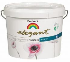 Краска матовая для стен и потолков Beckers Elegant Vaggfarg Matt 9 л (база А)