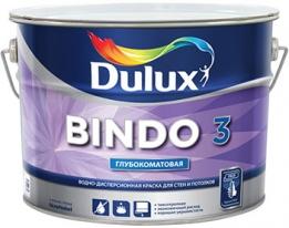 Краска для потолков и стен, матовая Dulux Bindo 3, 10 л (база BW) белый