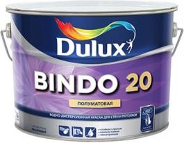 Краска для стен и потолков полуматовая Dulux Bindo 20, 1 л (база BW)