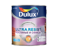 Краска для стен Гостиные и Офисы матовая Dulux Ultra Resist 2,25 л (база BC)