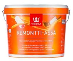 Краска полуматовая для стен и потолков Tikkurila Remontti Assa 9 л (база А)