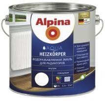 Эмаль водоразбавляемая для радиаторов Alpina Aqua Heizkorper 0,75 л