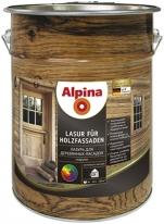Лазурь бесцветная для деревянных фасадов Alpina Lasur fur Holzfassaden 2,5 л