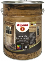 Лазурь бесцветная для деревянных фасадов Alpina Lasur fur Holzfassaden 10 л