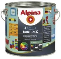 Эмаль белая шелковисто-матовая водная Alpina Aqua Buntlack 2,5 л