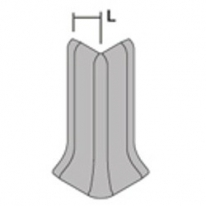 Угол наружный для плинтуса Progress Plast RECTAA 100