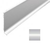 Плинтус алюминиевый Лука 501л анодированный серебро 2000х78,5х11,2 мм без клеевой основы