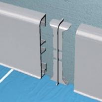 Соединение центральное для алюминиевого плинтуса PKGC 80 Progress Plast PKGIN 80