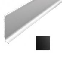 Плинтус алюминиевый Лука 15лк анодированный черный 2000х78,5х11,2 мм на клеевой основе
