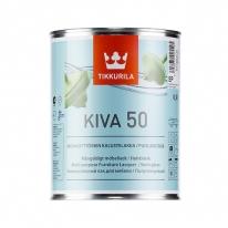 Лак полуглянцевый для мебели Tikkurila Kiva 50, 0,9 л