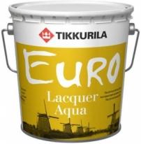 Лак антисептирующий водный, полуглянцевый Tikkurila Finncolor Euro Laquer Aqua 9 л