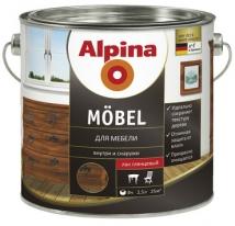 Лак глянцевый алкидный для мебели Alpina Mobel 2,5 л