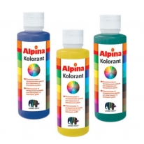 Краска колеровочная для наружного и внутреннего использования Alpina Kolorant, 0,5 л (желтая)