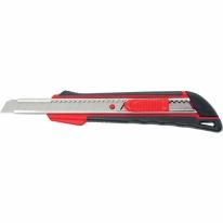 Нож, 9 мм выдвижное лезвие, метал. направляющая, эргоном. двухкомпонентная рукоятка Matrix