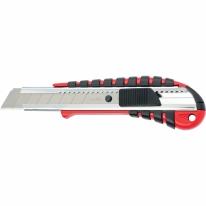 Нож, 18 мм выдвижное лезвие металлическая направляющая эргоном. двухкомпонентная рукоятка Matrix