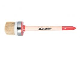 Кисть круглая Профи №8 (35 мм), натуральная щетина, деревянная ручка / Matrix