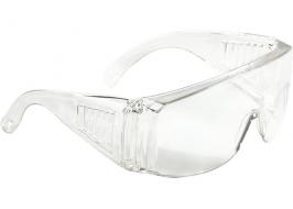 Очки защитные открытого типа, прозрачные, ударопрочный поликарбонат СибрТех