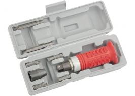 Отвертка ударно-поворотная 1/2, набор бит, 6 шт, обрезиненная ручка, в пластиковом боксе Matrix