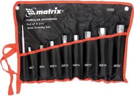 Набор ключей трубчатых торцевых 9 предметов Matrix