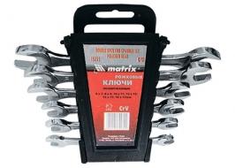 Набор ключей рожковых 6×22 мм, 8 шт, CrV, хромированные Matrix