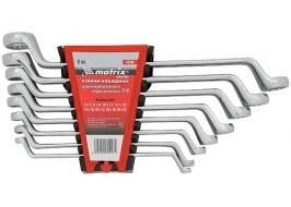 Набор ключей накидных 8 шт, 6-22 мм, CrV, Elliptical, зеркальный хром Master Matrix