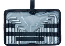 Набор ключей имбусовых HEX-TORX, 18шт, HEX 1.5-10×50, CrV, удлиненные, сатин-хром, Matrix