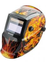 Щиток защитный лицевой (маска сварщика) с автозатемнением, пламя Matrix