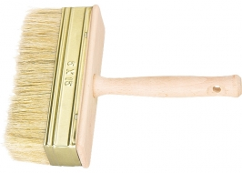 Кисть-макловица, 30 х 130 мм, натуральная щетина, деревянный корпус, деревянная ручка Россия