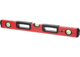 Уровень алюминиевый 2000 мм, фрезерованный, три глазка, две эргономичные ручки Matrix