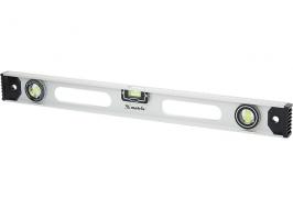 Уровень алюминиевый «Рельс» 800 мм, три глазка + один поворотный Matrix