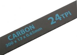 Полотна для ножовки по металлу, 300 мм, 24TPI, Carbon, 2 шт. Gross