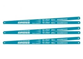 Полотна для ножовки по металлу, 300 мм, 18TPI, HSS, 2 шт. Gross