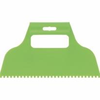 Шпатель для клея, пластмассовый, зубчатый 4х4 мм СибрТех