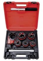 Набор клуппов 1/4″-1/2″-3/4″-1″-1,25″+ плашкодержатель с трещоткой, 8 предметов Matrix