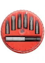 Набор бит, магнитный адаптер для бит, сталь 45Х, 7 предметов, в пласт. закрытом боксе MATRIX