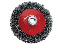 Щетка для УШМ, 100 мм, М14, «тарелка», витая проволока Matrix