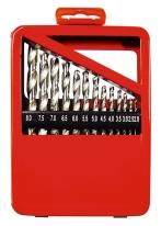 Набор сверл по металлу, 2-8 мм (через 0.5 мм), HSS, 13 шт., мет. коробка цилин. хвостовик Matrix