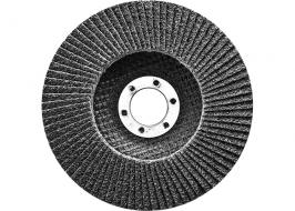 Круг лепестковый торцевой, конический, Р 60, 125 х 22,2 мм СибрТех