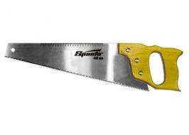 Ножовка по дереву, 400 мм, 7-8 ТРI, каленый зуб, линейка, деревянная рукоятка Sparta