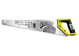 Ножовка по дереву «Зубец», 400 мм, 7-8 TPI, зуб 3D, каленый зуб, 2-х комп. рукоятка Сибртех