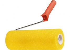 Валик «СТРУКТУРНЫЙ» поролоновый с ручкой, «гладкий», 230 мм, D — 80 мм Matrix