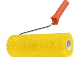 Валик «СТРУКТУРНЫЙ» поролоновый с ручкой, «шероховатый», 230 мм, D — 80 мм Matrix