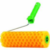 Валик «СТРУКТУРНЫЙ» поролоновый с ручкой, «горошек», 180 мм СибрТех