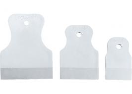 Набор шпателей 40-60-80 мм, белая резина, 3 шт. Sparta