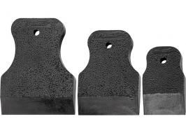 Набор шпателей 40-60-80 мм, черная резина, 3 шт. Sparta