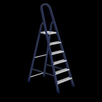 Стремянка, 6 ступеней, стальная, оцинкованные ступени СибрТех