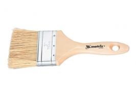 Кисть плоская «Евро» 1″, натуральная щетина, деревянная ручка Matrix
